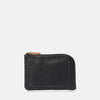 Hocker Medium Leather Purse in Black-MEDIUM POUCH-Ally Capellino-Ally Capellino