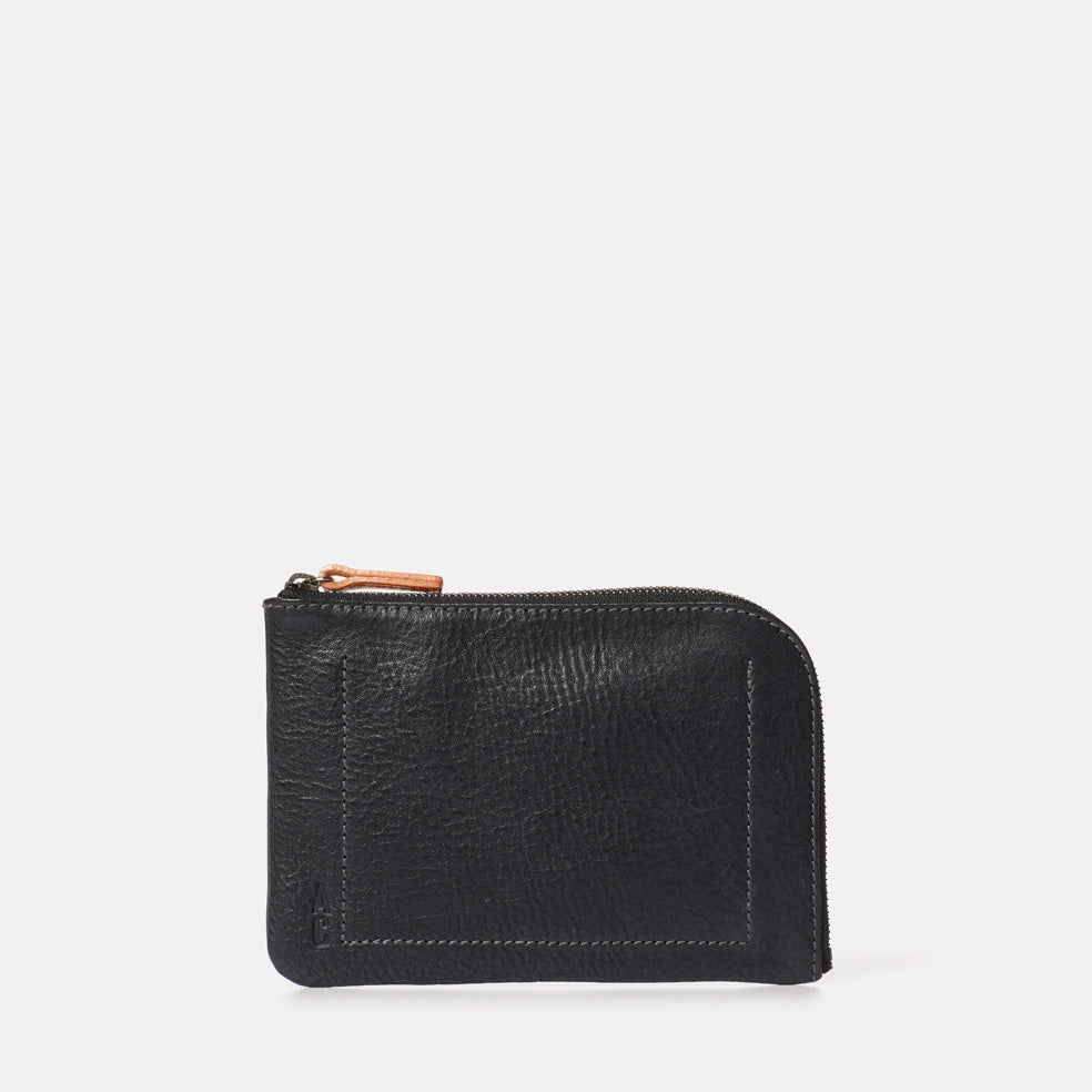 Hocker Medium Leather Purse in Black