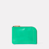 Hocker Medium Leather Purse in Green-MEDIUM POUCH-Ally Capellino-Small Leather Goods-Green-Leather