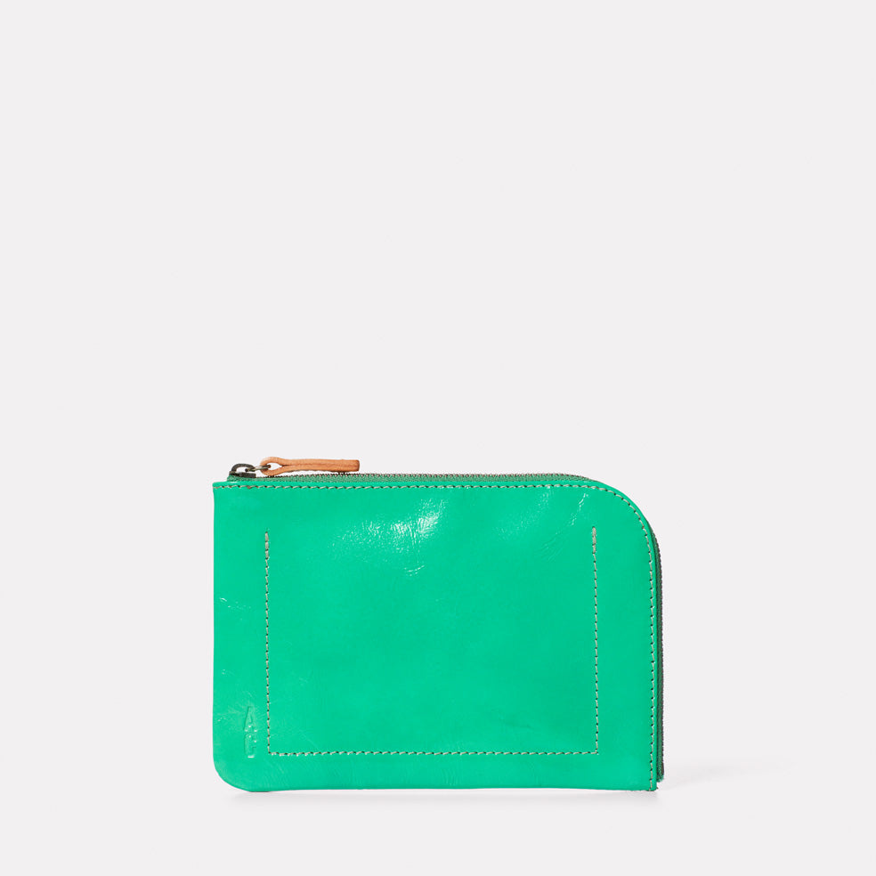 Hocker Medium Leather Purse in Green