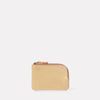 Hocker Small Leather Purse in Beige Gloss-SMALL POUCH-Ally Capellino-Ally Capellino