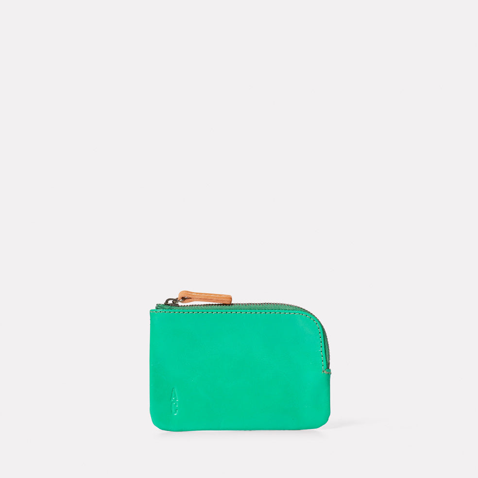 Hocker Small Leather Purse in Green