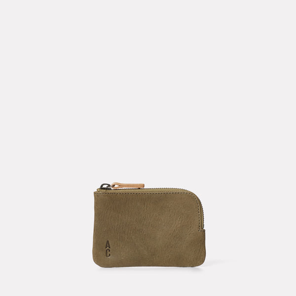 Hocker Small Leather Purse in Moss-SMALL POUCH-Ally Capellino-AW19-Leather-Moss-Green-Khaki
