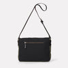 Jeremy Small Waxed Cotton Satchel in Black and Olive-SMALL CROSS BODY-Ally Capellino-Ally Capellino