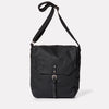 Jonny Waxed Cotton Satchel in Black-SATCHEL-Ally Capellino-Ally Capellino