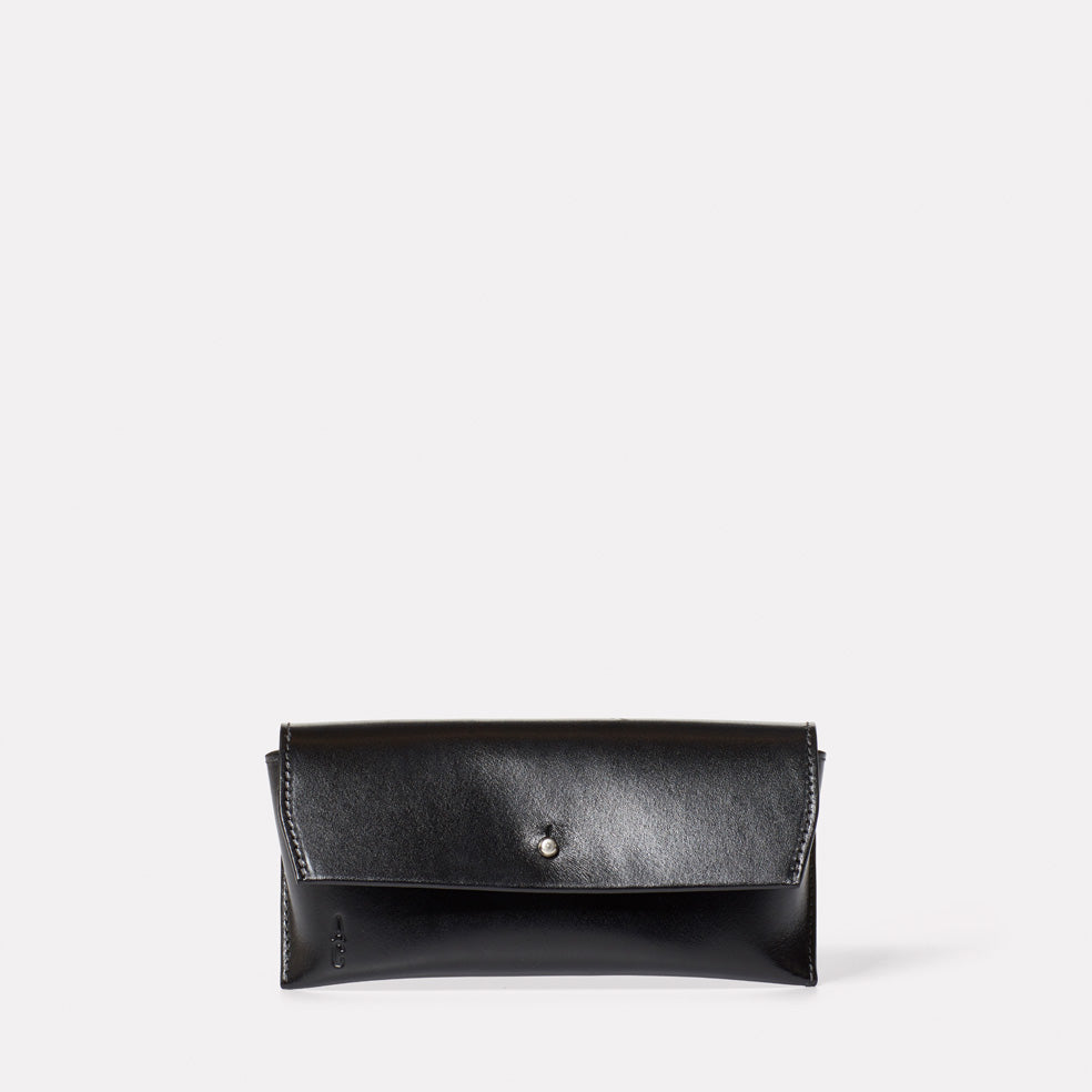 Kit Leather Glasses Case in Black