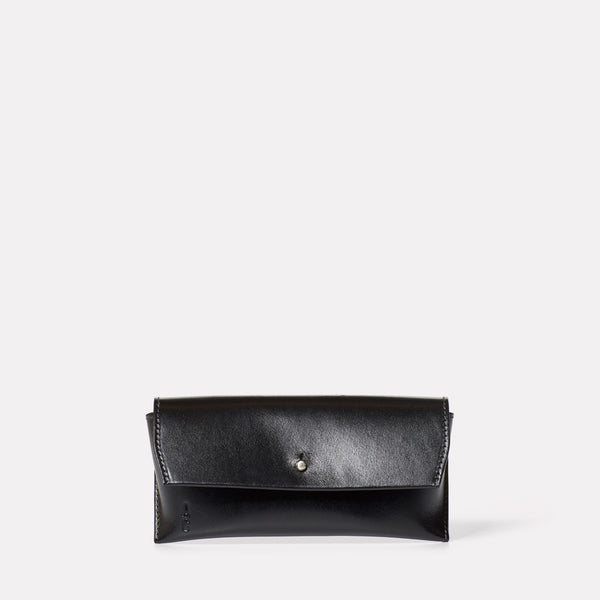 Kit Leather Glasses Case in Black-GLASSES CASE-Ally Capellino-Leather-Small Leather Goods-leather accessories-black-black leather
