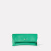 Kit Leather Glasses Case in Green-GLASSES CASE-Ally Capellino-Small Leather Goods-Green-Leather