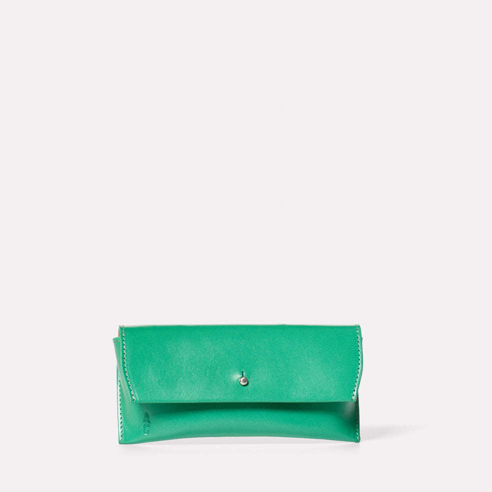 Kit Leather Glasses Case in Green