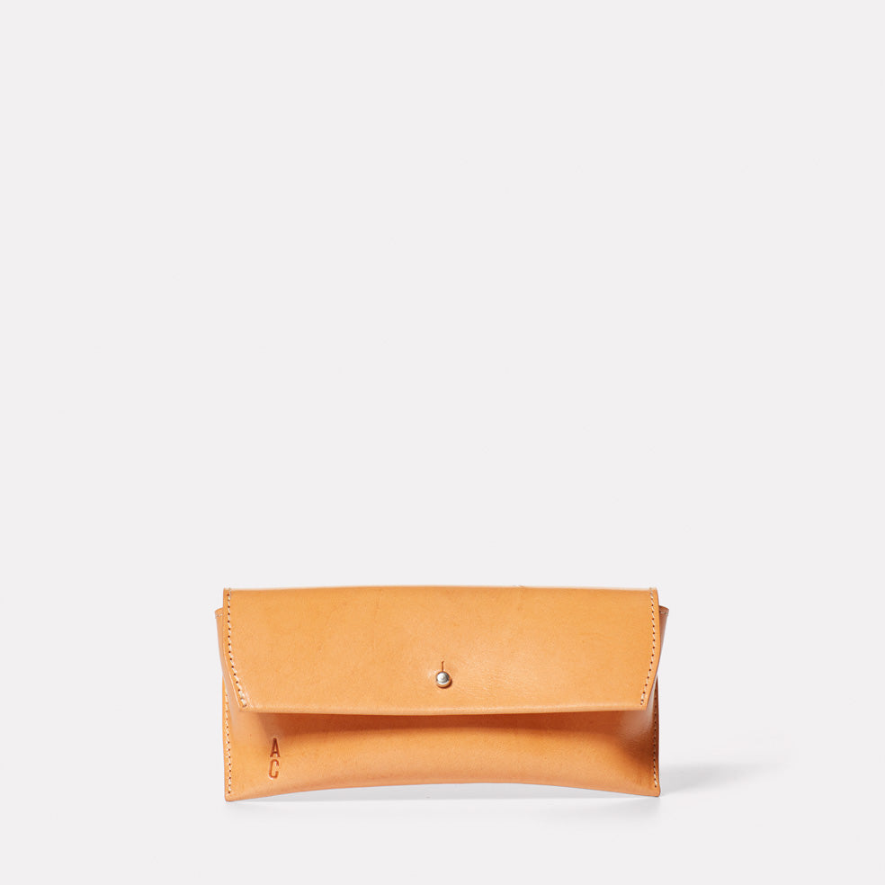 Kit Leather Glasses Case in Tan