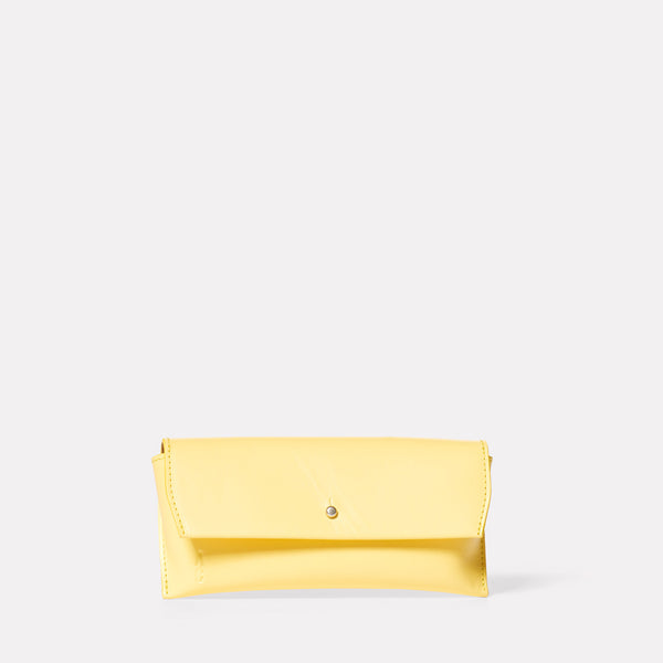 Kit Leather Glasses Case in Yellow-GLASSES CASE-Ally Capellino-Ally Capellino