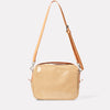Leila Large Calvert Leather Crossbody Bag in Beige Gloss-Crossbody Bag-Ally Capellino-Ally Capellino