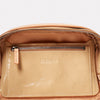 Leila Medium Calvert Leather Crossbody Bag in Beige Gloss-Handbags-Ally Capellino-Ally Capellino