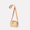 Leila Small Calvert Leather Crossbody Bag in Beige Gloss-Handbags-Ally Capellino-Ally Capellino