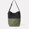 Lloyd Waxed Cotton Bucket Bag in Black and Olive-BUCKET-Ally Capellino-Ally Capellino-Green-Olive-Waxed_Cotton