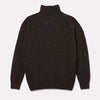 Mens Cashmere and Merino Knit Turtleneck in Dark Grey-JUMPER-Ally Capellino-