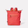 Mini Hoy Travel and Cycle Rucksack in Red-SMALL RUCKSACK-Ally Capellino-Red-Travel Cycle-Cordura-Nylon-Travel Bag