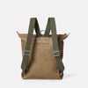 Hoy Mini Leather Backpack in Moss-RUCKSACK-Ally Capellino-moss-green leather-olive leather-green-calvert leather-leather