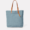 Natalie Waxed Cotton Tote in Blue