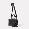 Nico Soft Frame Bag in Black-SMALL DOUBLE FRAME-Ally Capellino-Ally Capellino-Black-Black Leather Bag