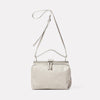 Nico Soft Frame Bag in Grey-SMALL DOUBLE FRAME-Ally Capellino-Ally Capellino-Grey-Grey Leather