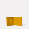 Oliver Leather Wallet in Mustard Inside