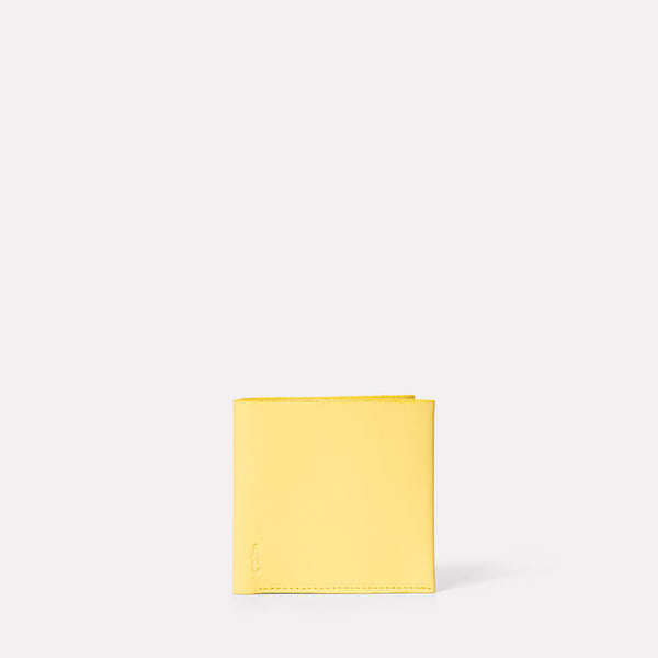 Oliver Leather Wallet in Yellow-MENS WALLET-Ally Capellino-Ally Capellino
