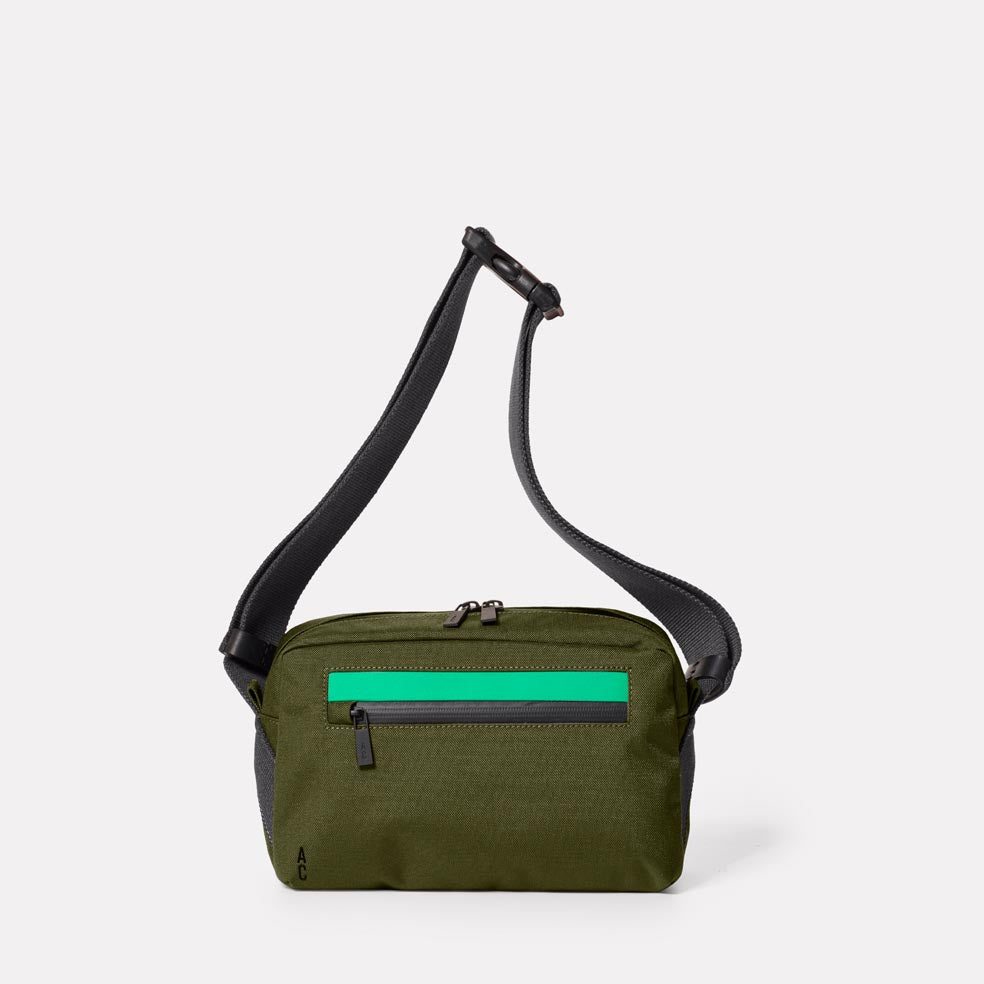 Pendle Travel & Cycle Body Bag in Army Green