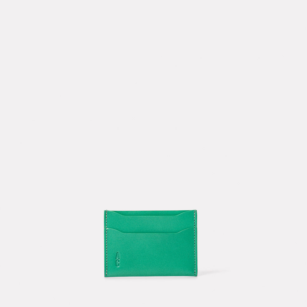 Pete Leather Card Holder in Green