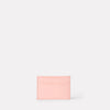 Pete Calvert Leather Card Holder in Pink Front