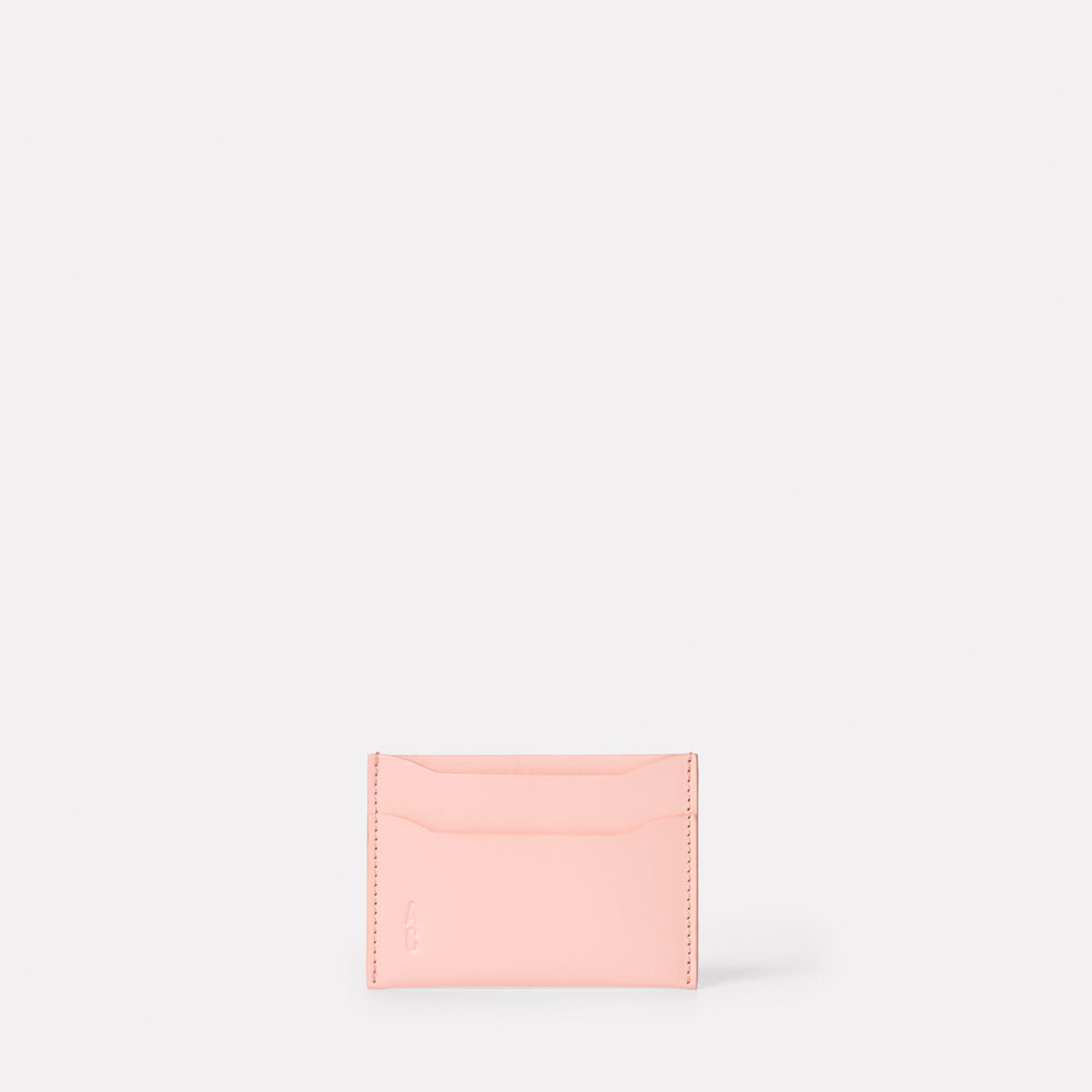 Pete Calvert Leather Card Holder in Pink