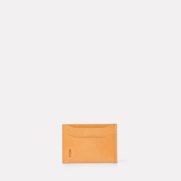 Pete Leather Card Holder in Tan-CARD HOLDER-Ally Capellino-Ally Capellino