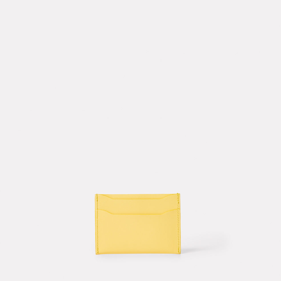 Pete Leather Card Holder in Yellow