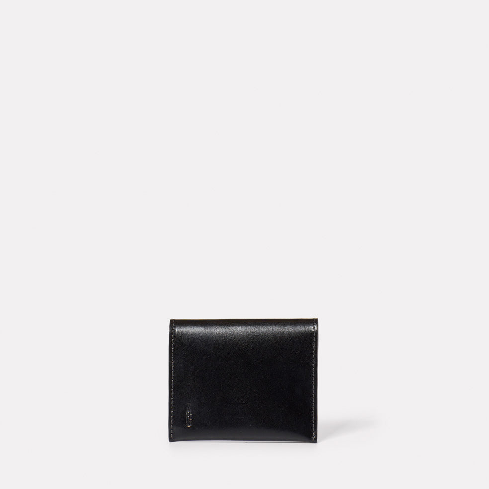 Riley Leather Coin Card Purse in Black