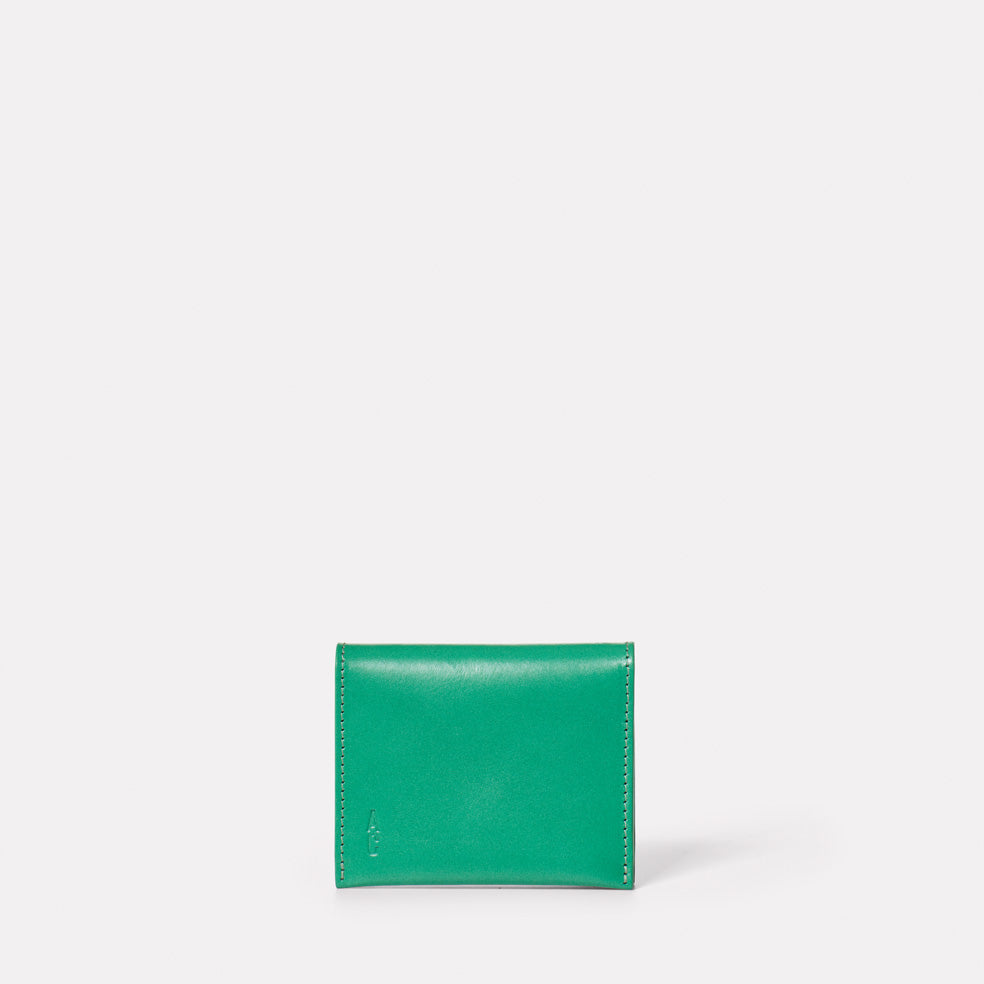 Riley Leather Coin Card Purse in Green