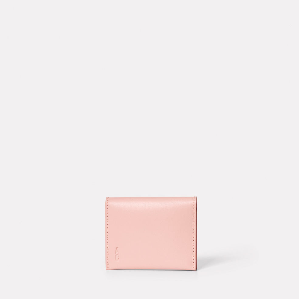 Riley Leather Coin Card Purse in Pink