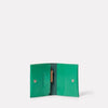 Riley Leather Coin Card Purse in Green-COIN / CARD HOLDER-Ally Capellino-Small Leather Goods-Green-Leather