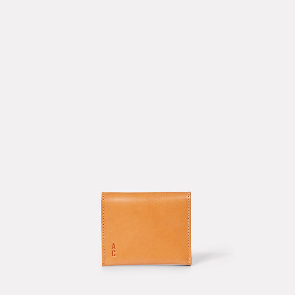 Riley Leather Coin Card Purse in Tan-COIN / CARD HOLDER-Ally Capellino-Leather-smallleathergoods-Small Leather Goods- Tan-Tan Leather-AW19