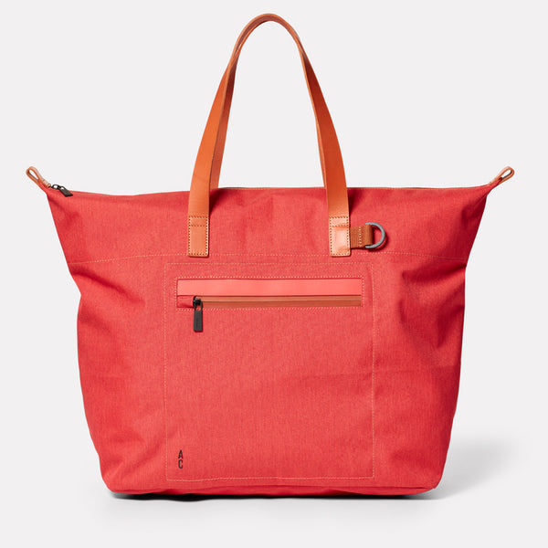 Saarf Travel and Cycle Tote in Red-HOLDALL-Ally Capellino-Red-Travel Cycle-Cordura-Nylon-Travel Bag