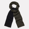 Lambswool Long Scarf in Olive & Black-SCARF-Ally Capellino-Lambswool