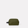 Simon Travel And Cycle Washbag in Army Green Front