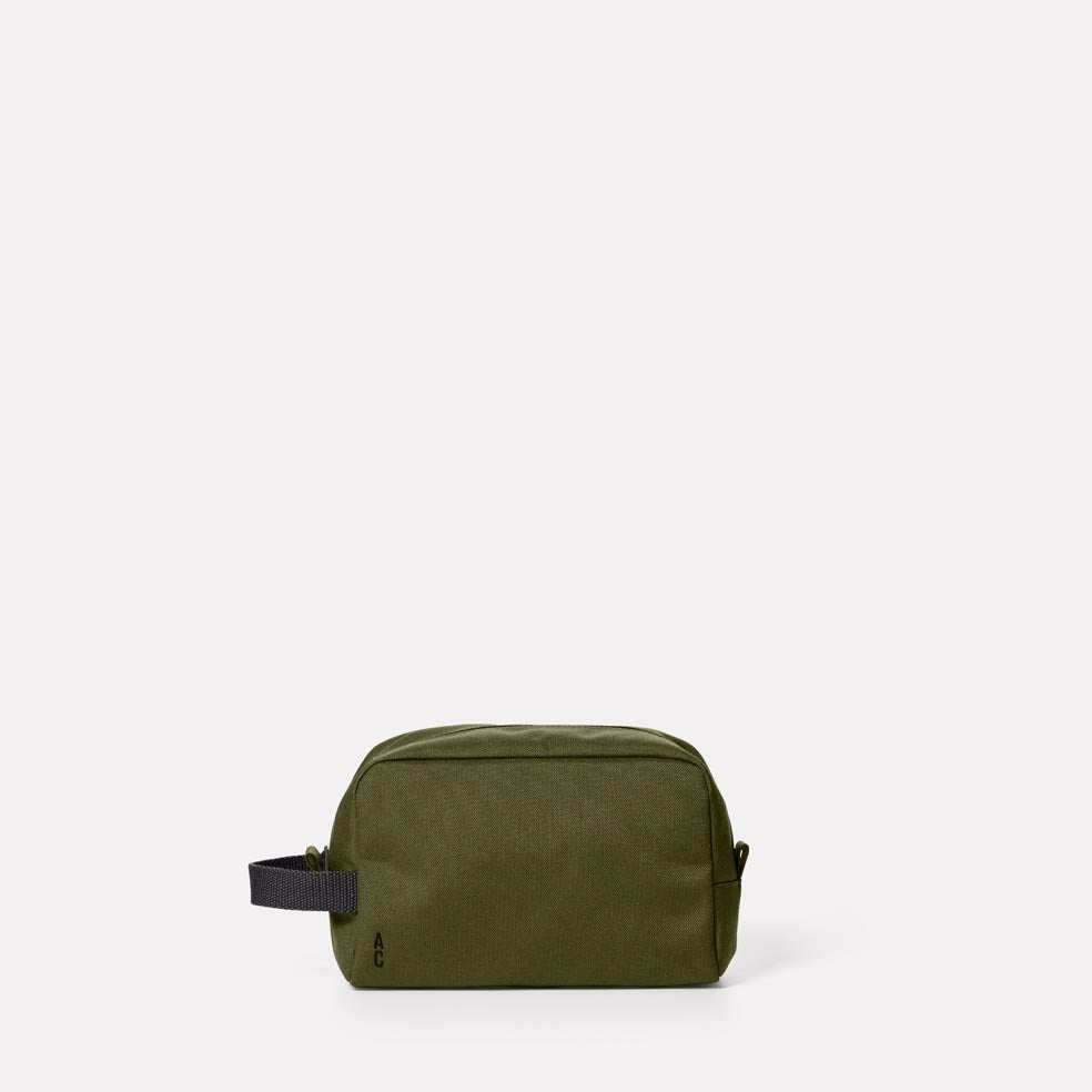 Simon Travel And Cycle Washbag in Army Green
