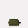 Simon Travel And Cycle Washbag in Army Green Back