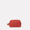Simon Waxed Cotton Washbag in Brick-WASH BAG-Ally Capellino-brick red-British waxed cotton-red