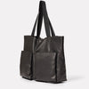 Toto Camlet Leather Tote Bag in Black-LARGE TOTE-Ally Capellino-Ally Capellino-Black-Black Leather Bag