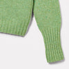 Womens Cashmere and Merino Knit Turtleneck in Green-JUMPER-Ally Capellino-