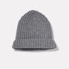 Lambswool Hat in Grey Mix Rolled