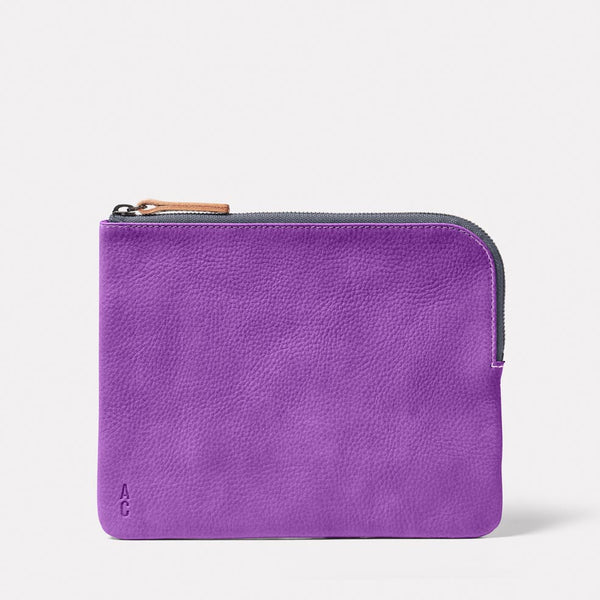 Hocker Large Leather Purse in Viola
