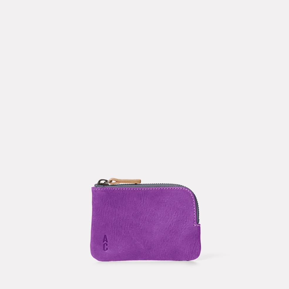 Hocker Small Leather Purse in Viola