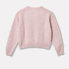 Cropped Lambswool Jumper in Light Pink Back